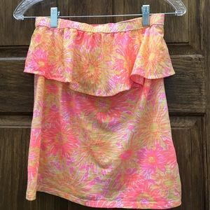 LILLY PULITZER strapless top. Size M